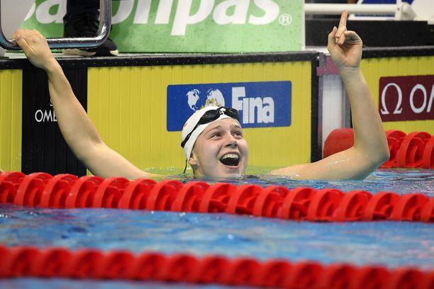 Ida Hulkko oli iskussa Tukholman Swim Openissa. Arkistokuva vuodelta 2019.