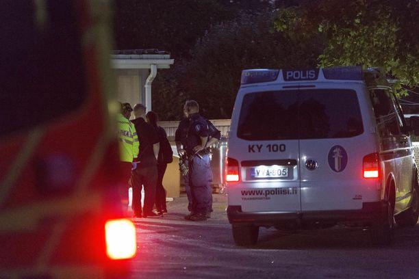 Poliisilla oli jonkin verran tehtäviä Kotkan Meripäivillä perjantaina.