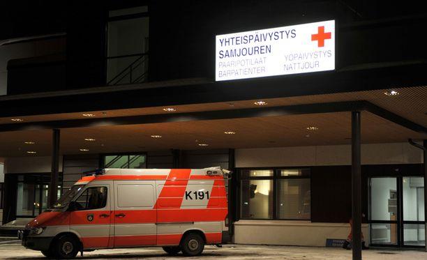 Keski-Pohjanmaan keskussairaala arkistokuvassa.