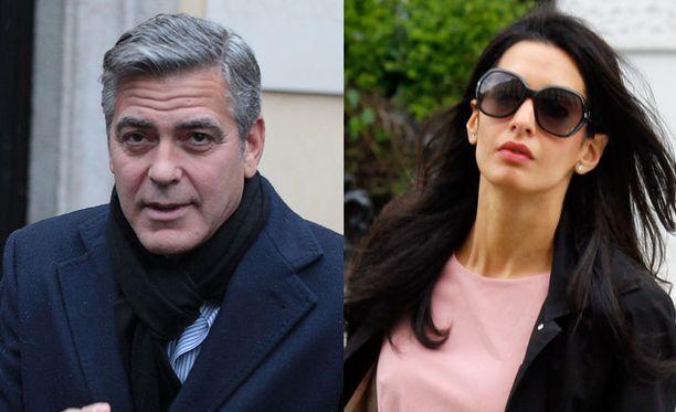 Ei tehdä tästä nyt numeroo, tuumivat George Clooney ja lemmitty Amal Alamuddin päättäessään hääjuhlasta.