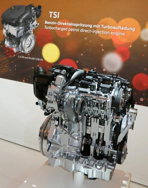 Uusi 1,5-litrainen TSI Evo -bensiinimoottori korvaa 1.4 TSI:n.