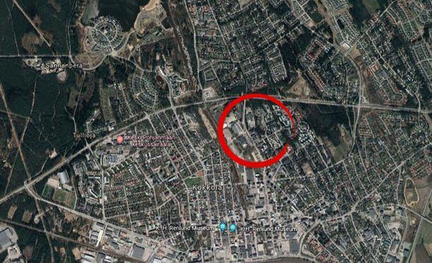 Omakotitalo tuhoutui Kokkolassa Kaarlenkadulla.