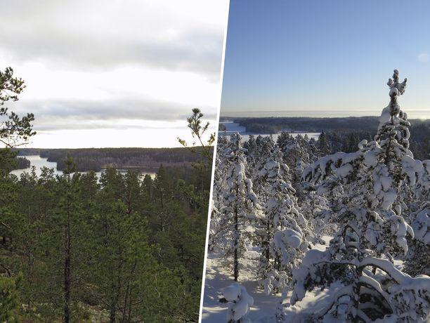 Sama paikka tammikuussa eri vuosina. Iltalehteen yhteyttä ottaneen Pentin kuvapari kertoo olennaisen Suomen erikoisesta säästä.