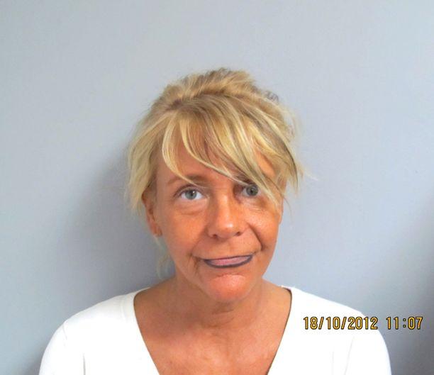 Patricia Krentcil pidätyskuvassa vuonna 2012, kun häntä syytettiin lapsensa turvallisuuden vaarantamisesta. Krentcil väitti tuoneensa lapsensa solarium-salonkiin, ja ettei lapsi tullut hänen kanssaan solariumiin.