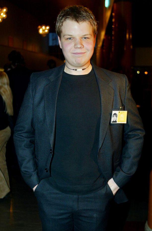 Nuori Hannes Suominen Eila-elokuvan ensi-illassa vuonna 2003.