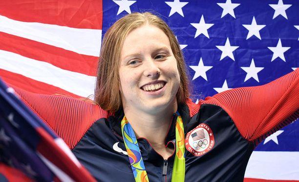Lilly King voitti 100 metrin rintauinnin olympiakultaa.