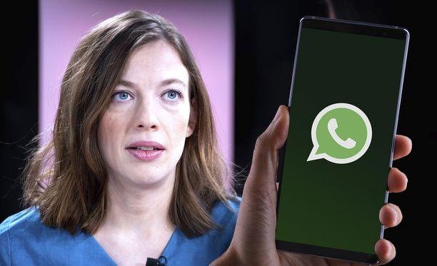 Ministeri Li Andersson kertoi, että hallitus käyttää yhteydenpitoon Whatsappia.