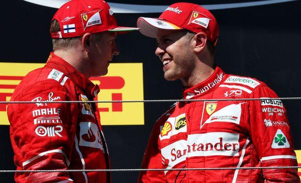 Kimi Räikkönen ja Sebastian Vettel jatkanevat tallikavereina myös ensi kaudella.