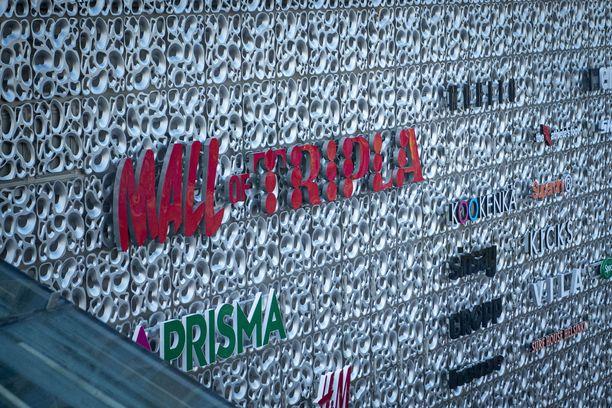 Triplan julkisivu on reikäinen. Pikapuoliin valmistuvasta rakennuksesta on tulossa yksi pohjoismaiden suurimpia kauppakeskuksia.