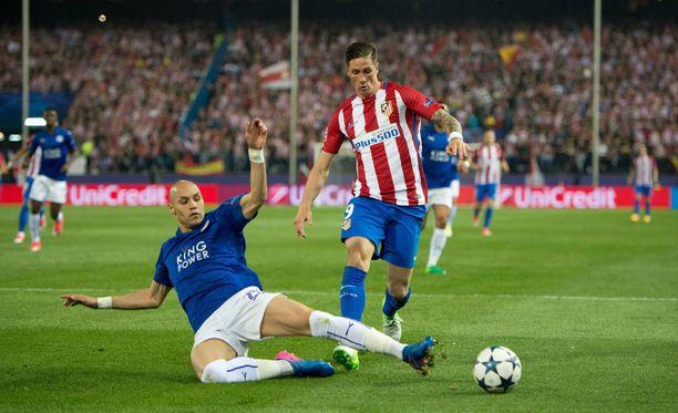 Atletico Madrid kaatoi Leicesterin 1. osaottelussa 1-0.