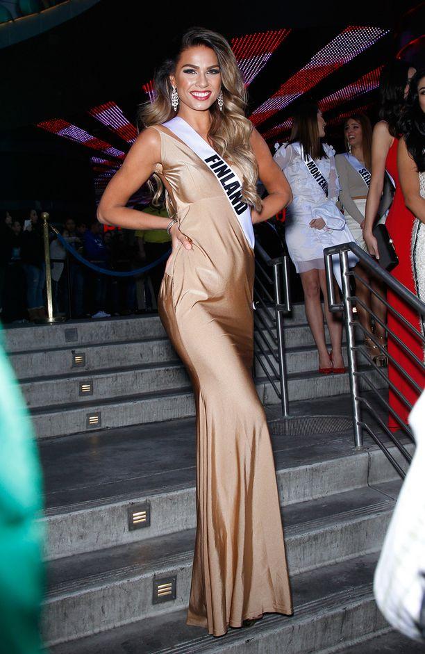 Rosa-Maria Ryyti tervetulotilaisuudessa Las Vegasissa maanantaina.