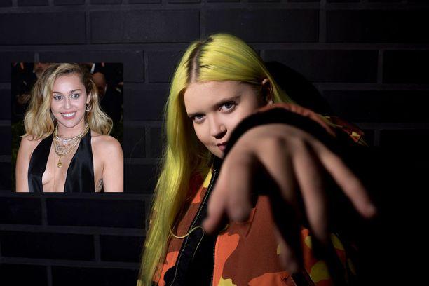 Myös Andrew oli julkaissut yhteiskuvan Almasta ja Mileysta.