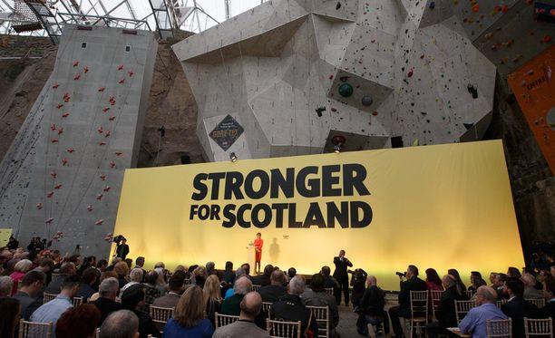Skotlannin kansallispuolue SNP:lle on ovensuukyselyiden mukaan tulossa murskavoitto.