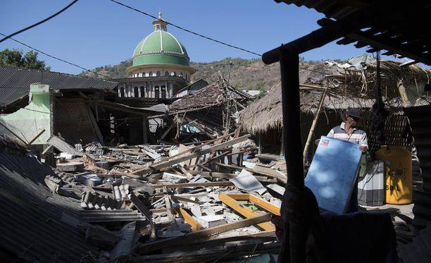 Lombokin pohjoisosa tuhoutui lähes täysin järistyksen takia.