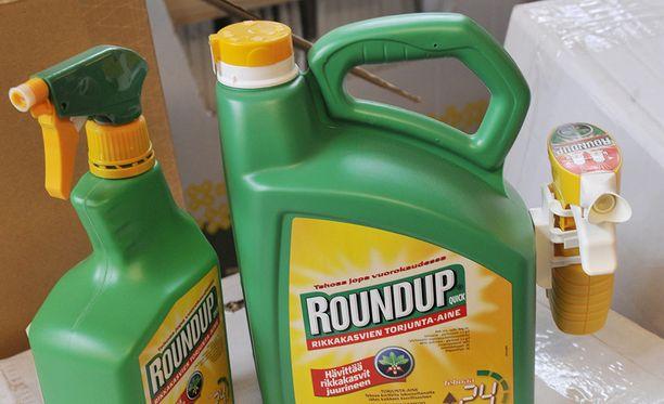 Glyfosaattia sisältävä rikkakasvien torjunta-aine Roundup on Suomessa ja koko Euroopassa laajalti käytössä.