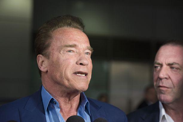 Kuvassa Schwarzenegger maaliskuussa 2018.