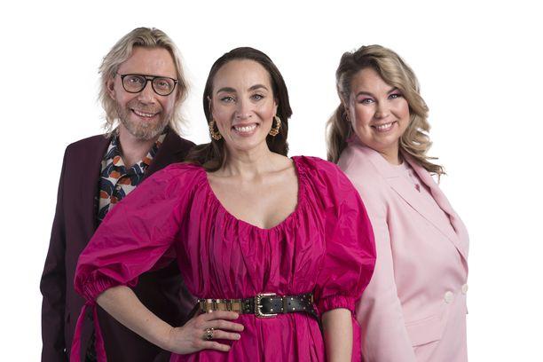 Kimmo Vehviläinen, Anni Hautala ja Tinni Wikström juontavat julkkis-BB:tä.
