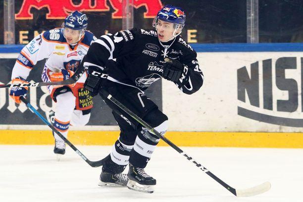 TPS-tähti Kaapo Kakko on tehnyt kauden 29 ottelussaan pisteet 11+11=22.