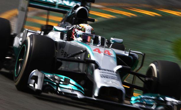 Lewis Hamilton oli lauantain ykkönen.