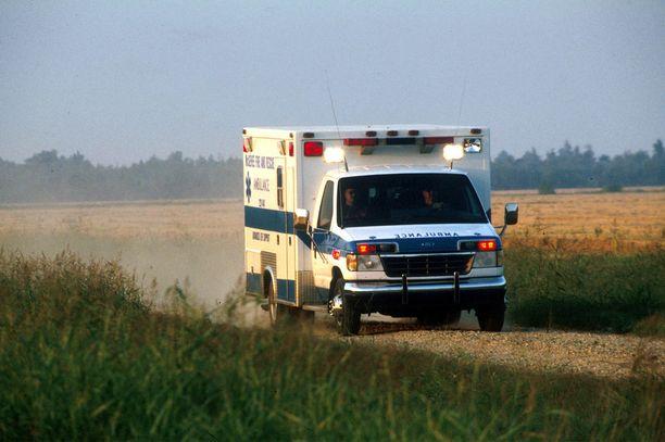 Kuvan ambulanssikaan ei liity tapaukseen