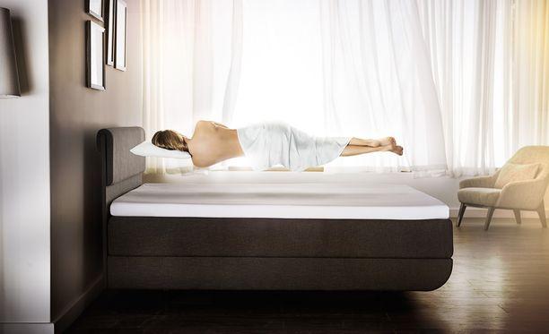 Kehon lämmön mukaan muotoutuva Tempur -materiaali tukee vartalon fysiologiseen asentoon. Ainoa mitä tunnet, on painottomuus!