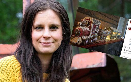 Joulun herkullisin juna tulee tässä – Olga Temonen taikoi piparkakkutaikinasta todellisen kaunottaren