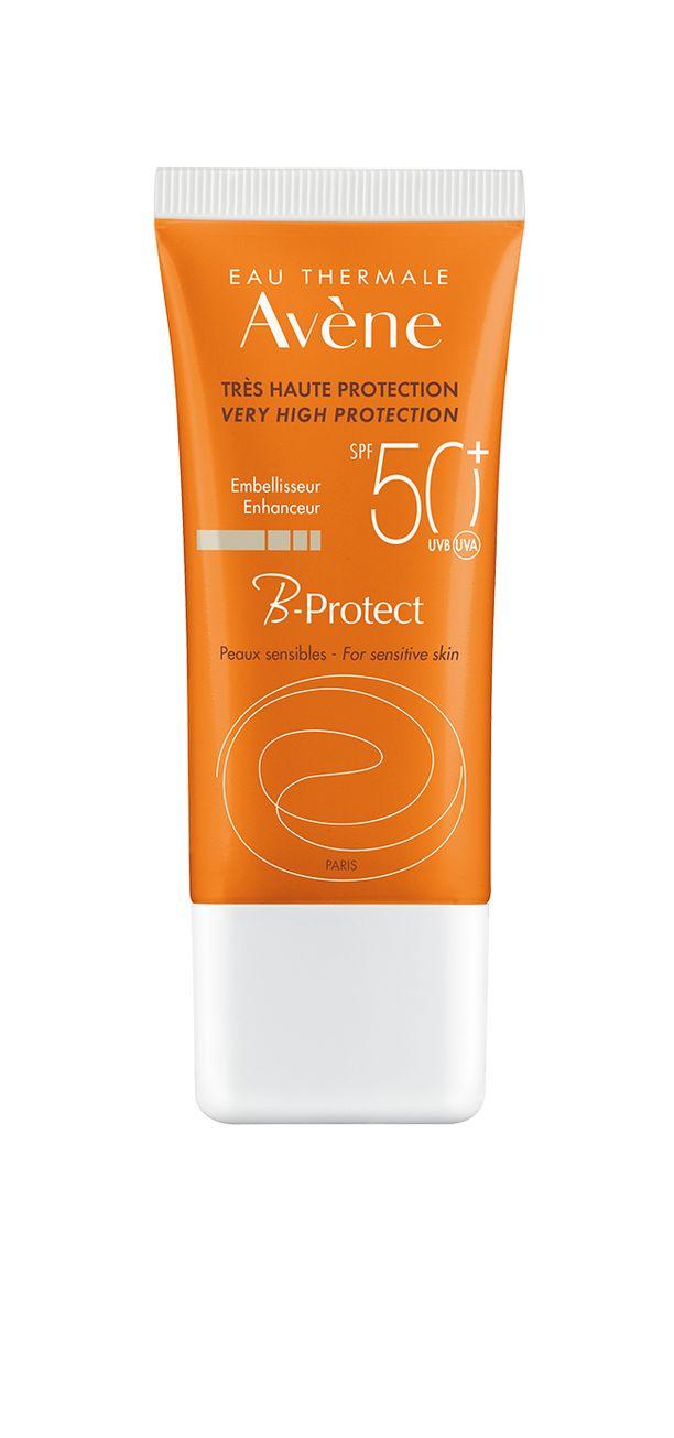 Avène Sun B-Protectissa on sekä uudelainen kevyt maitomainen koostumus, joka ei tahraa sekä 50+ suojakerroin. Tämä aurinkovoide antaa iholle luonnollisen hehkun.