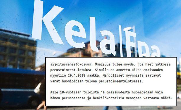 Iltalehti uutisoi taannoin, että Laura sai Kelalta toimeentulotukipäätöksen, joka edellyttää hänen lapsensa omaisuuden myymistä, jotta perhe voi hakea tukea myös jatkossa.