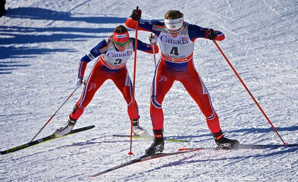 Maiken Caspersen Falla ja Astrid Uhrenholdt Jacobsen eivät halunneet spekuloida dopingkäryn sattumisella omalle kohdalle.