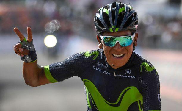 Kevytrakenteinen Nairo Quintana hyötyy Tour de Francen vähentyneistä aika-ajokilometreistä.