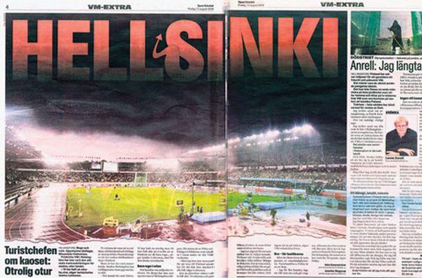 Lasse Anrell haukkui Helsingin MM-kisat lyttyyn viime vuonna Aftonbladetin Sportbaledet-urheiluliitteessä.