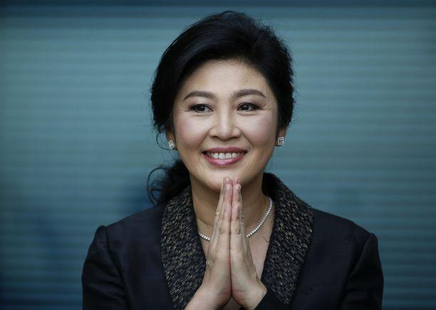 Yingluck Shinawatralta toimi Thaimaan pääministerinä ennen sotilasvallankaappausta toukokuussa 2014.