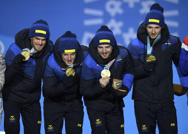 Ruotsin ampumahiihtoviestin olympiakultanelikko valittiin vuoden joukkueeksi Ruotsin urheilugaalassa.