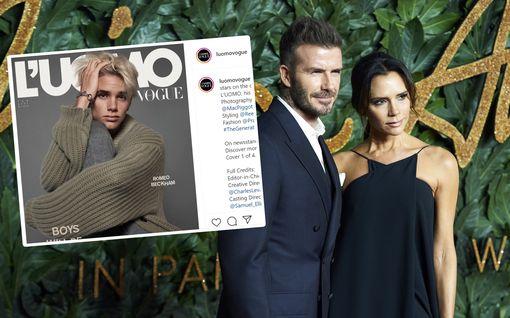 Romeo Beckham, 18, pääsi Voguen kanteen – on kuin ilmetty kopio julkkisvanhemmistaan
