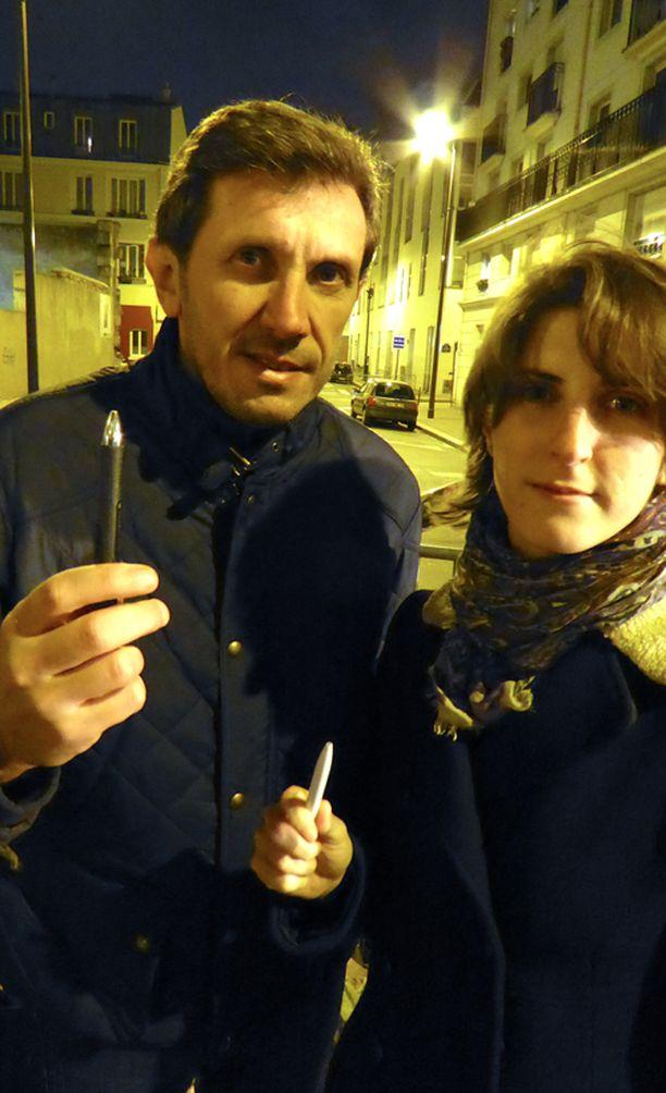Fredric ja Martine Dyfoy aikovat osallistua Pariisin kansalaismarssiin sunnuntaina.