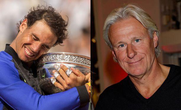 Kuusi kertaa Ranskan avoimet voittanut Björn Borg (oik.) ylisti Rafael Nadalin paluuta loukkaantumisten jälkeen.