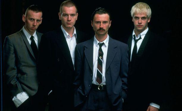 20 vuotta sitten joukko näytti tältä: Spud, Rent Boy, Franco ja Sick Boy.