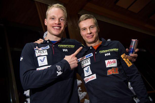 Iivo Niskanen (vas.) ja Matti Heikkinen.