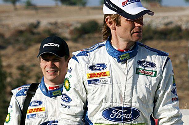 Timo Rautiainen ja Marcus Grönholm joutuivat taas tyytymään kakkostilaan.