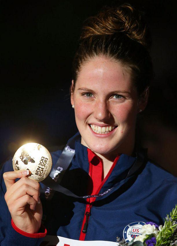 Missy Franklin dominoi Barcelonan MM-uinteja.