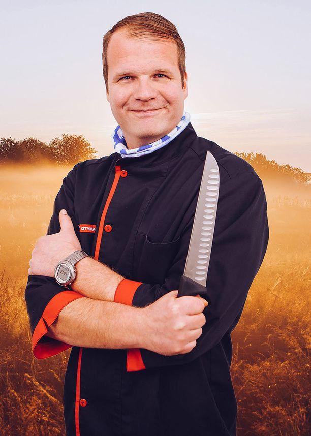 Lihamestari Pasi Näätänen suosittelee fileelankun pintaan mausteöljyä.