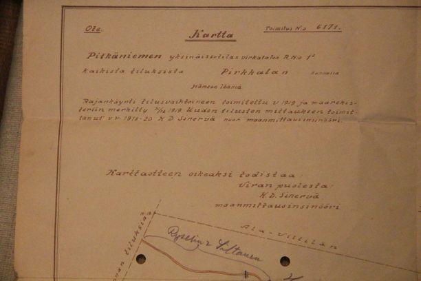 Ryselin mainitaan vuoden 1919 maanmittaustodistuksesta, joka löytyi Haapaniemien kotiarkistosta.