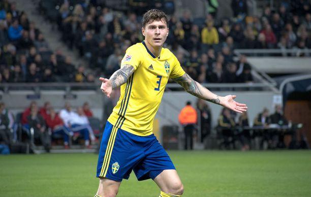 Puolustaja Lindelöf onnistui marraskuun lopussa maalinteossa Kansojen liigan ottelussa Venäjää vastaan.
