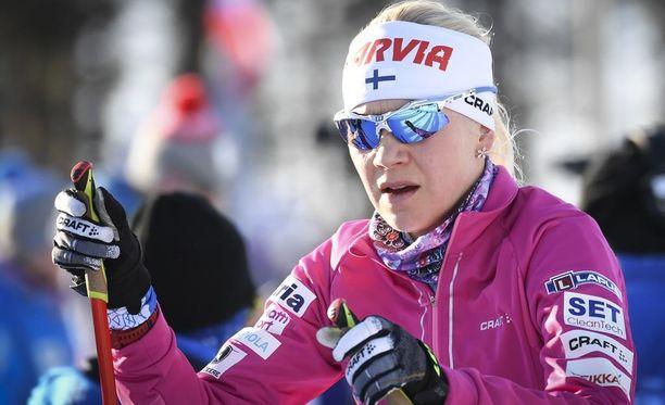 Kaisa Mäkäräinen voitti maastohiihdon Suomen mestaruuden.