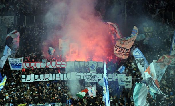 Lazio-fanit ovat riehuneet aiemminkin.