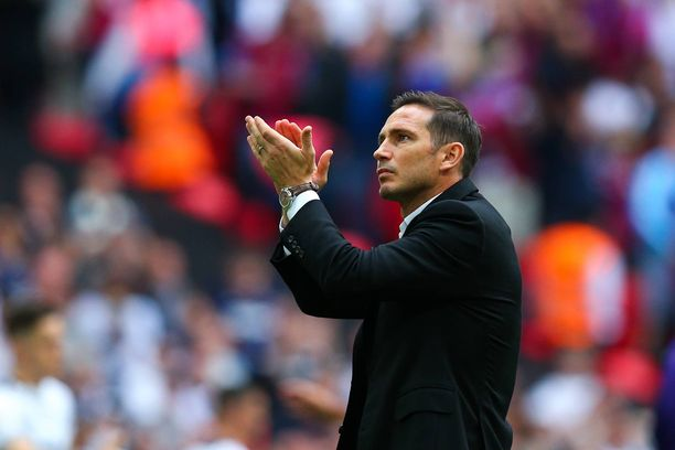 Viime kauden Frank Lampard toimi Derby Countyn valmentajana.