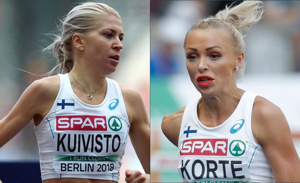 Sara Kuivisto (vas.) ja Annimari Korte olivat vauhdissa Pärnussa.