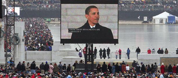 Obaman virkaanastujaiset keräsivät miljoonayleisön.