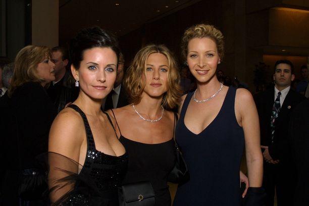 Courteney Cox, Jennifer Aniston ja Lisa Kudrow kuvattuna vuonna 2000.
