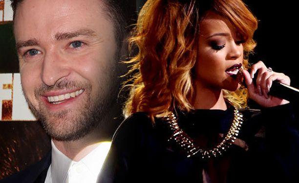 Justin Timberlake ja Rihanna ovat ehdolla vuoden parhaaksi artistiksi.